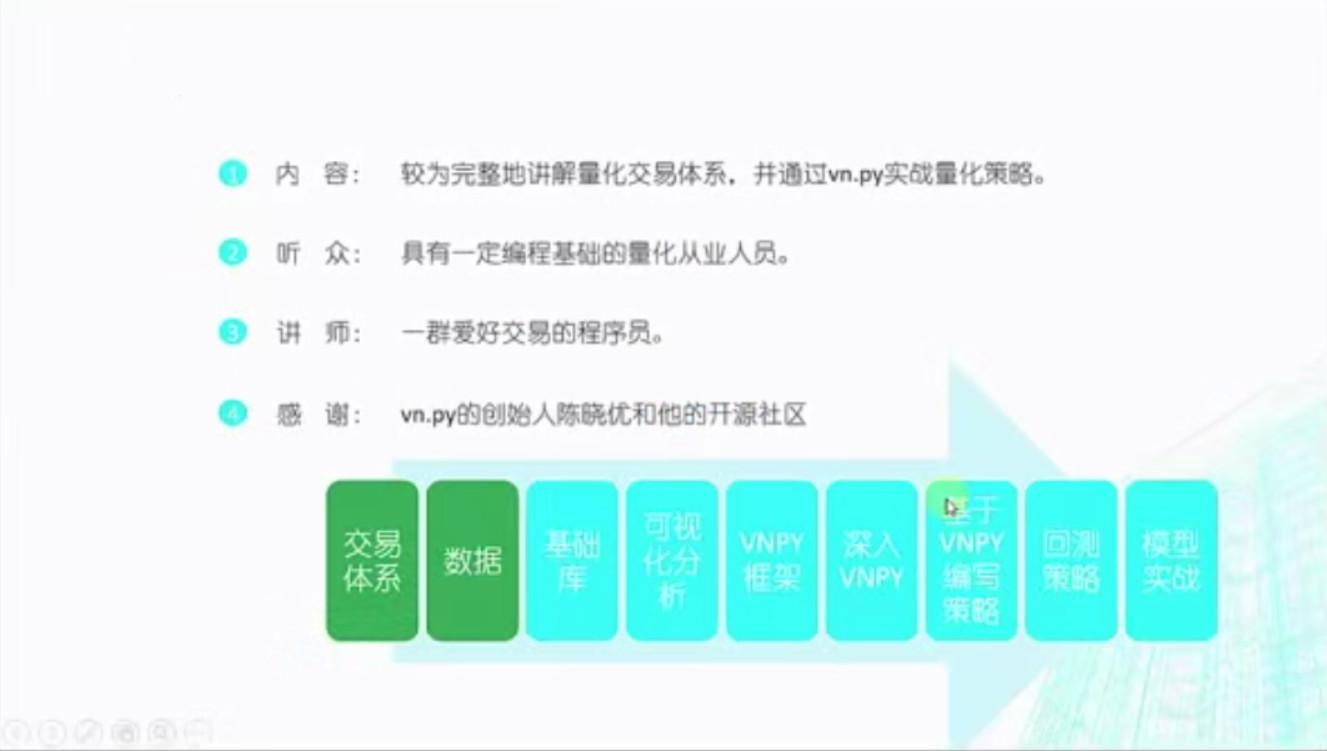 VNPY打造量化交易系统实战 6课