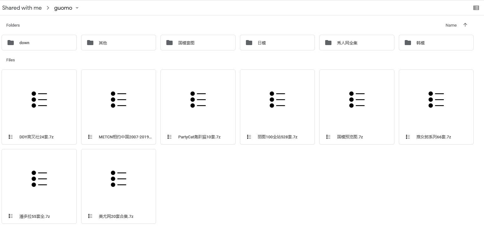 356GB国模套图 (Google Drive资源)