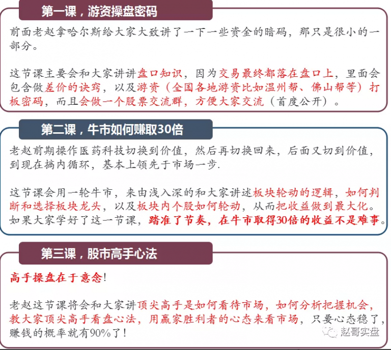 2020年 赵哥实盘《赵哥黄埔军校》10课 视频+讲义