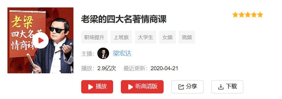 梁宏达四大名著情商课(全156集)